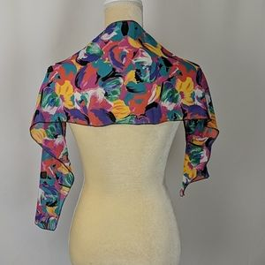 Handcrafted vibrant floral scarf wrap